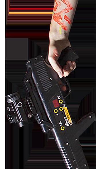 ruka z laser game